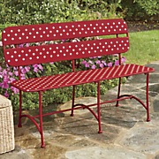 polka dot bench