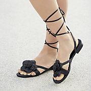 flower wrap sandal