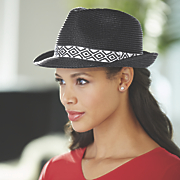 geometric band fedora