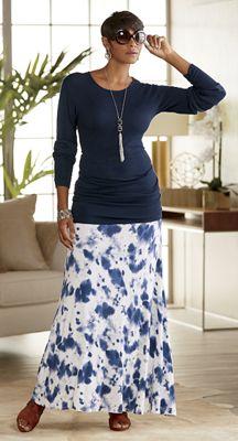 Marisol Sweater and Dessa Knit Maxi Skirt
