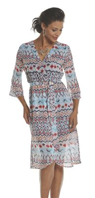 Monica Print Dress