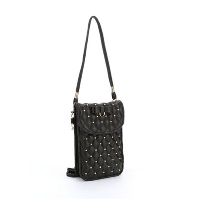 Studded Cell Phone Crossbody Bag