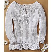 bell sleeve crochet top
