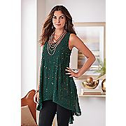 copper beaded party top
