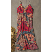 patchwork maxi dress 7