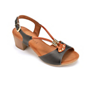 contrast leather sandal by la pinta