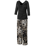 ruched top with printed pants