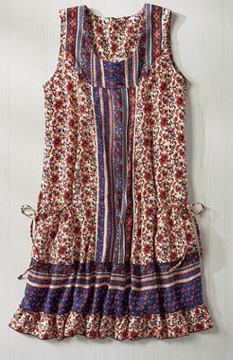 Mixed Print Pocket Dress
