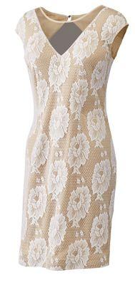 Floral Lace V-Neck Dress
