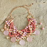 Peony Jewelry Set