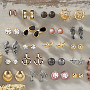 20 pair sea life earring set