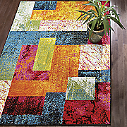 day glo patchwork rug