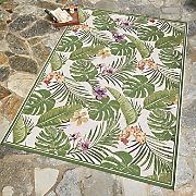 flowering fern indoor outdoor rug