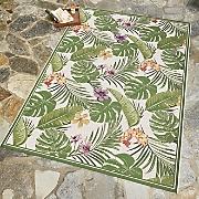 flowering fern indoor outdoor rug