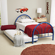 metal twin bed with optional trundle