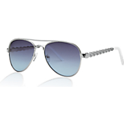 women s twisted frame aviator sunglasses by steve madden