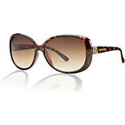 tortoise with scroll detail sunglasses by steve madden