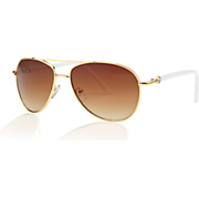women s side stone aviator sunglasses by steve madden