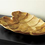 wood leaf plate