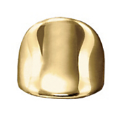 14k gold nano diamond resin smooth concave wide band ring