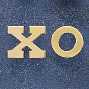 10k gold xo post earrings