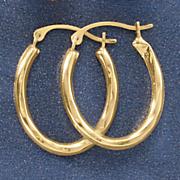 10 k gold oval mini hoops