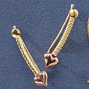 10k gold heart climbers