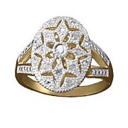 white diamond oval filigree ring