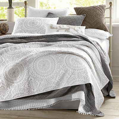 Embroidered Medallion Coverlet and Sham by Jessica Simpson<sup class='mark'>&reg;</sup>