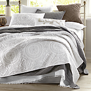 embroidered medallion coverlet and sham by jessica simpson