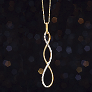 white diamond infinity pendant