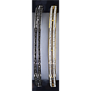 white or black diamond bar bangle bracelet