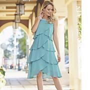 pearl tiered ruffle dress