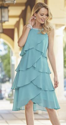 Pearl Tiered Ruffle Dress