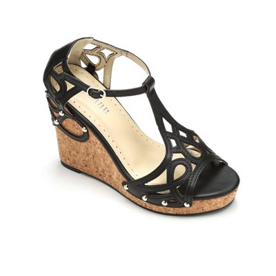 Cutout T-Strap Wedge by Monroe & Main