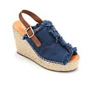 denim wedge slingback by monroe and main