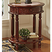 hand carved genuine marble side table
