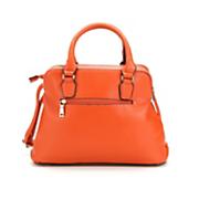double zip top satchel