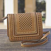 studded saddle crossbody bag