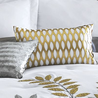 Gilded Leaf Gold Accent Pillow