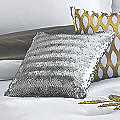 Gilded Leaf Silver Accent Pillow