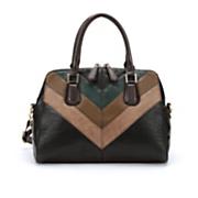 chevron colorblock satchel