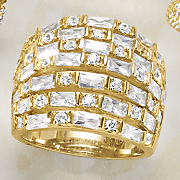 cubic zirconia wideband rows ring