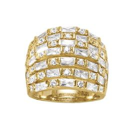 Cubic Zirconia Wideband/Rows Ring