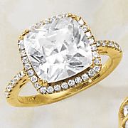 cubic zirconia square frame ring
