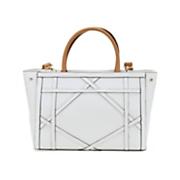 geometric design satchel