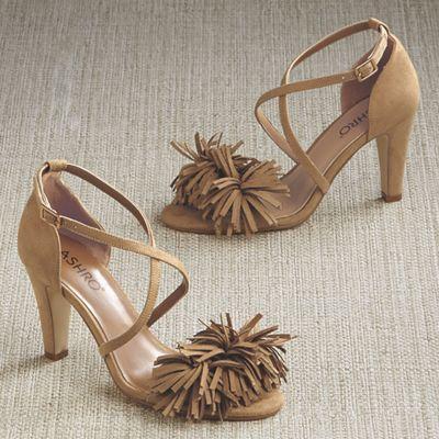 Callie Fringe Sandal