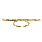 cubic zirconia bar ring