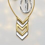 two tone chevron necklace