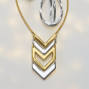 two tone chevron necklace